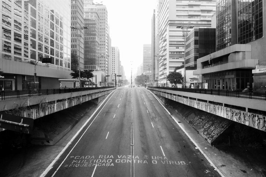 São Paulo vazia na quarentena.